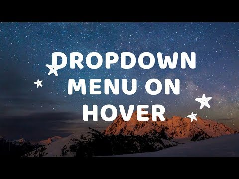 Dropdown menu on hover animation | Hover Dropdown Menu CSS