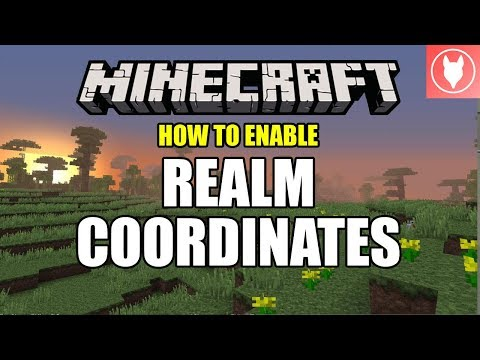 How to Enable Realm Coordinates - Minecraft Bedrock ( Xbox