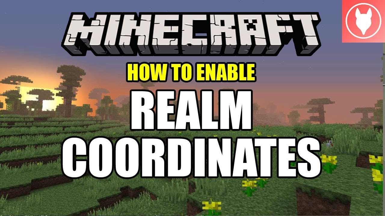 How to Enable Realm Coordinates - Minecraft Bedrock ( Xbox / MCPE / Windows  10 / Switch )