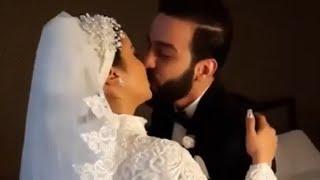 عريس يبوس عروسته يوم الفرح رد العروسة بعد كتب الكتاب Wedding Day همسات الزفاف