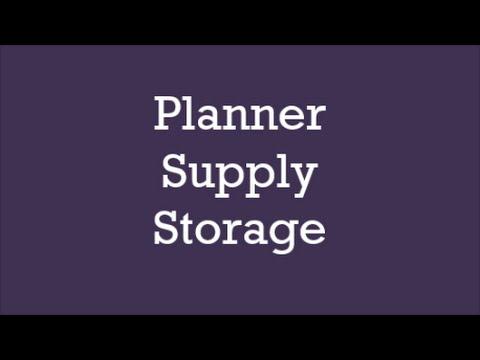 Planner Supply Storage