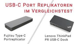 Neue USB-C Port Replikatoren von Lenovo und Fujitsu im Test