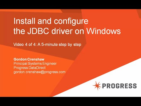 Install and configure the JDBC driver on Windows