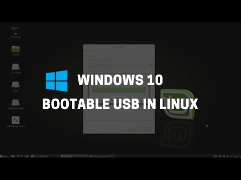 How to create a bootable linux mint usb drive using ubuntu