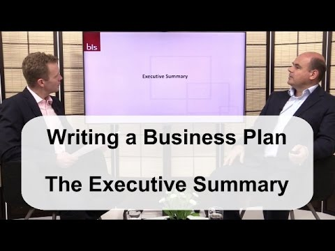 Writing a Business Plan: The Executive Summary