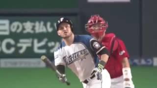 プロ野球 日本シリーズ 第4戦 日本ハム・レアード 決勝2ランホームラン.