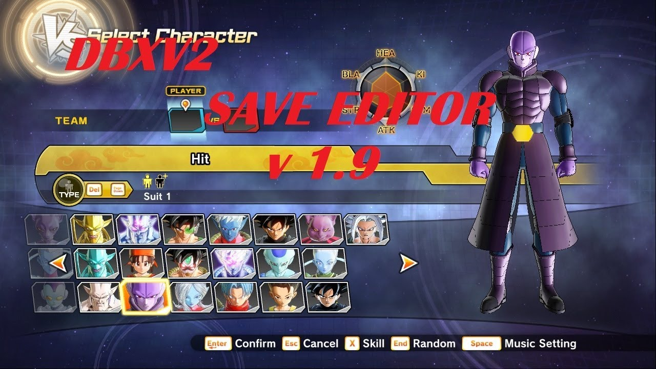 DBXV 2 save editor v 1 9 working 2018 by vicanimes