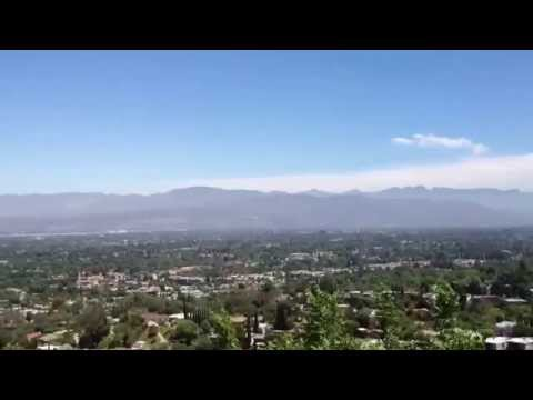 Views of the San Fernando Valley from Mulholland Estates in Beverly Hills.
