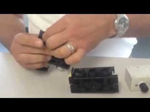 Bosch Rexroth Pneumatic 740 Valve Series Manifold Disassembly Demonstration