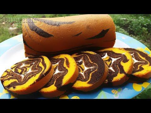 Resep Cara Membuat Roti Gulung Zebra Panggang