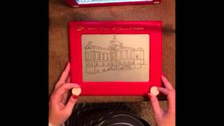 courthouse time lapse etch a sketch art
