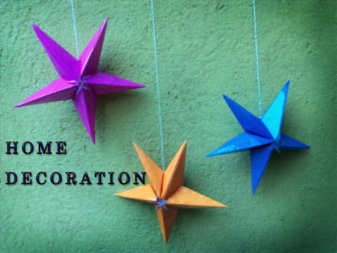 DIY Crafts: PAPER STAR TUTORIAL (DIY PAPER CRAFTS)