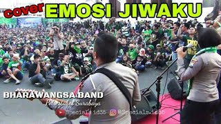 Begini Saat Ribuan Bonek nyanyikan Emosi Jiwaku Bersama Bharawangsa Band | Nobar Arema Vs PSBY