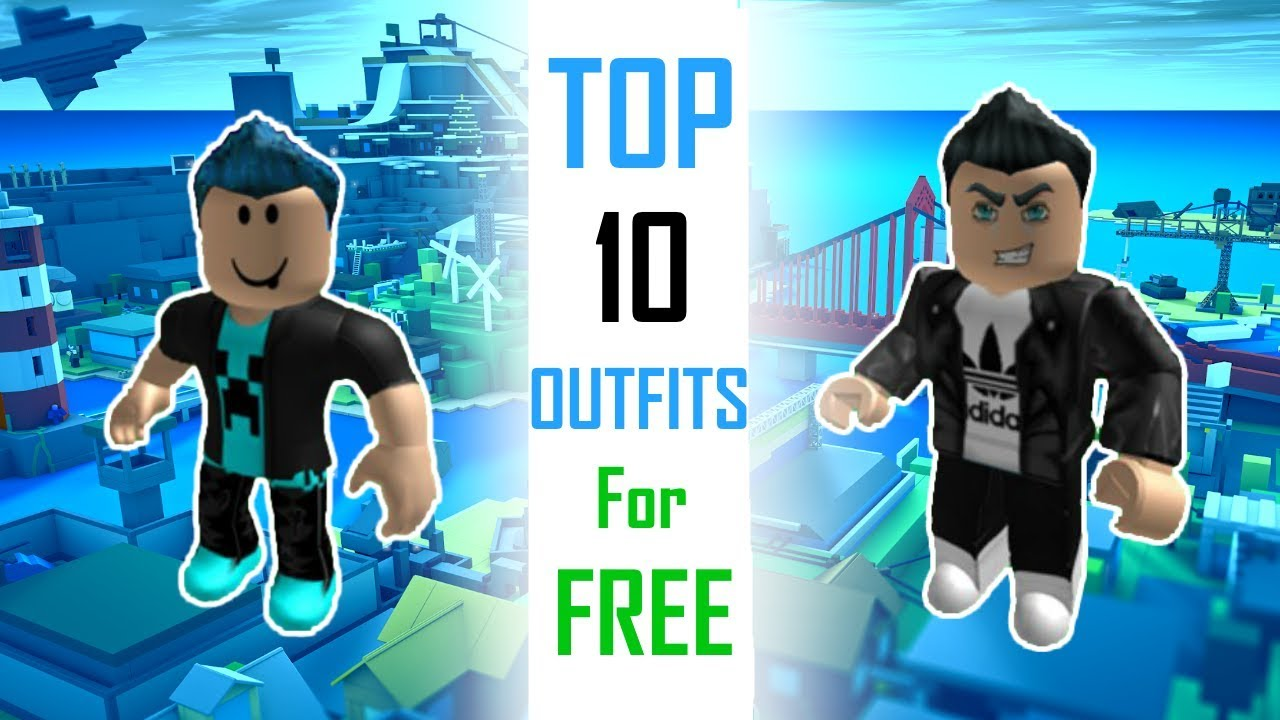 TOP 10 Outfits For FREE | ROBLOX - YouTube
