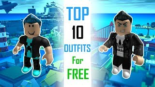 TOP 10 Outfits For FREE | ROBLOX