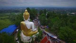 Wat Phrathat Doi Kham in 4K (Doi Kham Temple) (Chiang Mai from the Air Episode 5)
