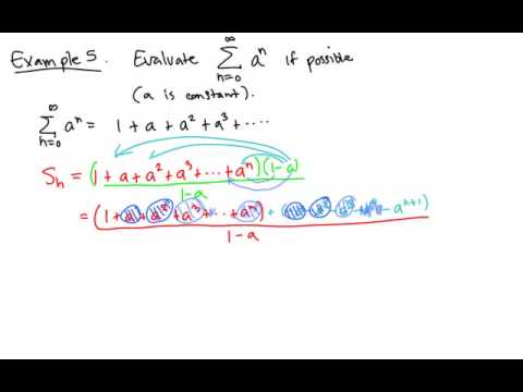 Calculus 2: Infinite series of numbers