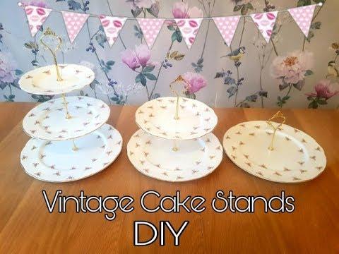 how-to-make-vintage-cake-stands---vintage-tea-party---diy-tutorial