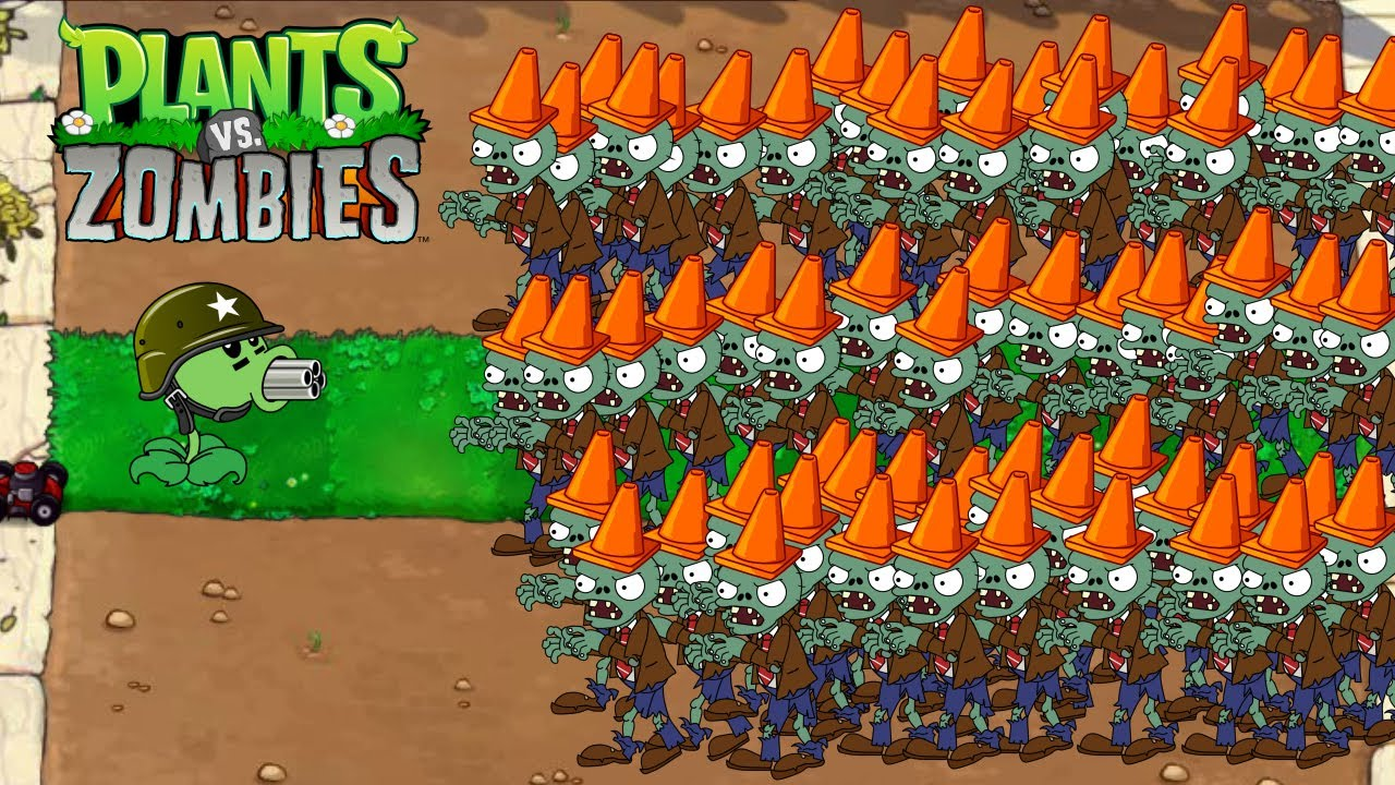 Plant vs Zombie - 1 Peashooter Heroes vs 9999 Zombies