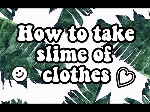 How To Take Slime Off Clothes~|KawaiiLits|
