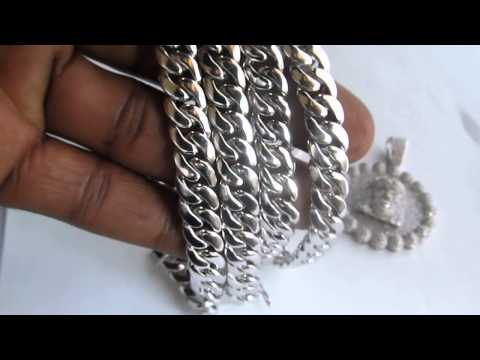 925 silver cuban link chain solid not hollow