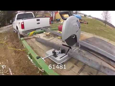 Harbor Freight 3.5 hp cut off saw, review and demonstration