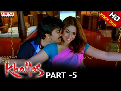 Khallas Hindi Movie Part 5/12 Raviteja, Richa Gangopadhay, Deeksha Seth
