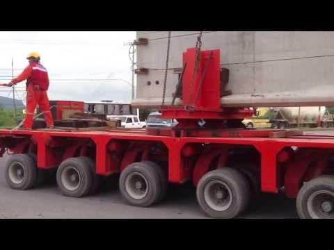 120 ton Trabe Nebraska (Long Concrete Bridge Beam), Heavy Haul, Heavy Transport in México