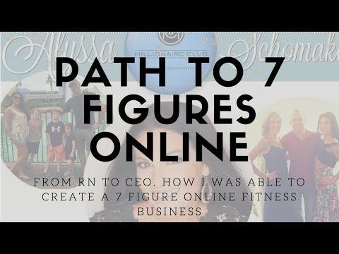 Path to 7 Figures online. How I was able to create a 7 Figure Online Fitness Business