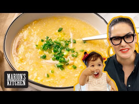 Chicken Sweetcorn Soup For Big & Little Kids - Marion's Kitchen