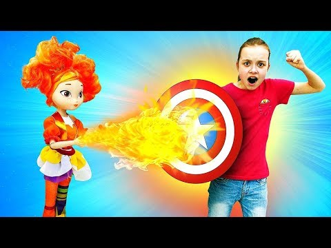 Девочка - супергерой! Леди Баг и Алёнка Сказочный патруль vs Охотники за игрушками