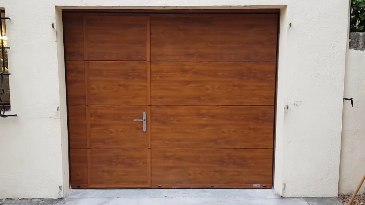 Porte De Garage Sectionnelle Gypass Avec Motorisation Came Ver Youtube