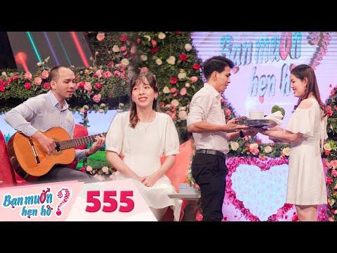 Bạn Muốn Hẹn Hò | Tập 555 FULL: Gái ngân hàng đổ gục trước chàng dạy nhạc hát ngọt như mía lùi