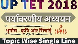 #UPTET भारत का भूगोल - कृषि और सिंचाई  |#UPTETGK |#UPTET2018 | #CTETEXAM2018 | #UPTETEXAMDATE