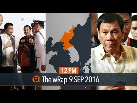 Duterte on the US, Jakarta state visit, North Korea quake | 12PM wRap