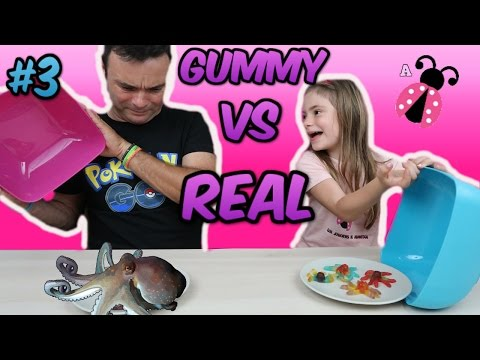 Thumbnail: GOMINOLAS Vs. REALIDAD #3 El reto de los dulces GUMMY FOOD vs REAL