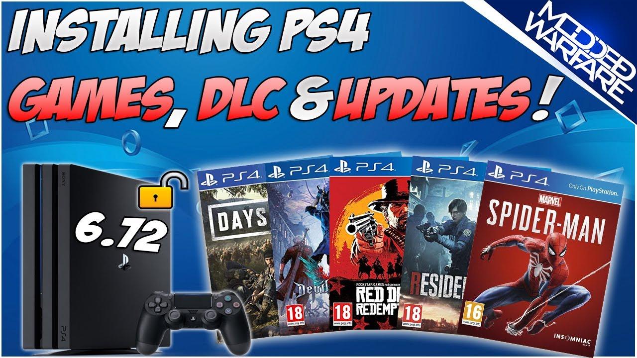 (EP 4) Installing PS4 Games, DLC & Updates (PS4 6.72 Jailbreak)
