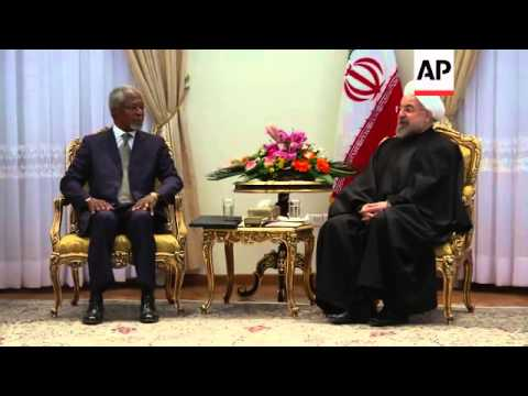 """Group of former world leaders, known as """"The Elders"""", meet Iranian President Rouhani"""