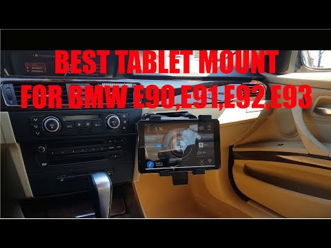 Best Place To Mount Tablet In BMW E9X (Cupholder Tablet Mount)