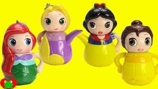 Kids Toy Videos Disney Princess Tea Party Learn Colors