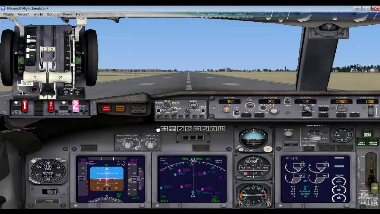 FSX Introduction to cockpit, operations of Boeing 737 Flight Simulator X  demo
