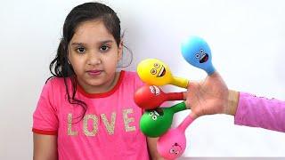 شفا تلعب بالبالونات المائية !! Daddy Finger Nursery Rhymes | Learn Colors With Balloons !