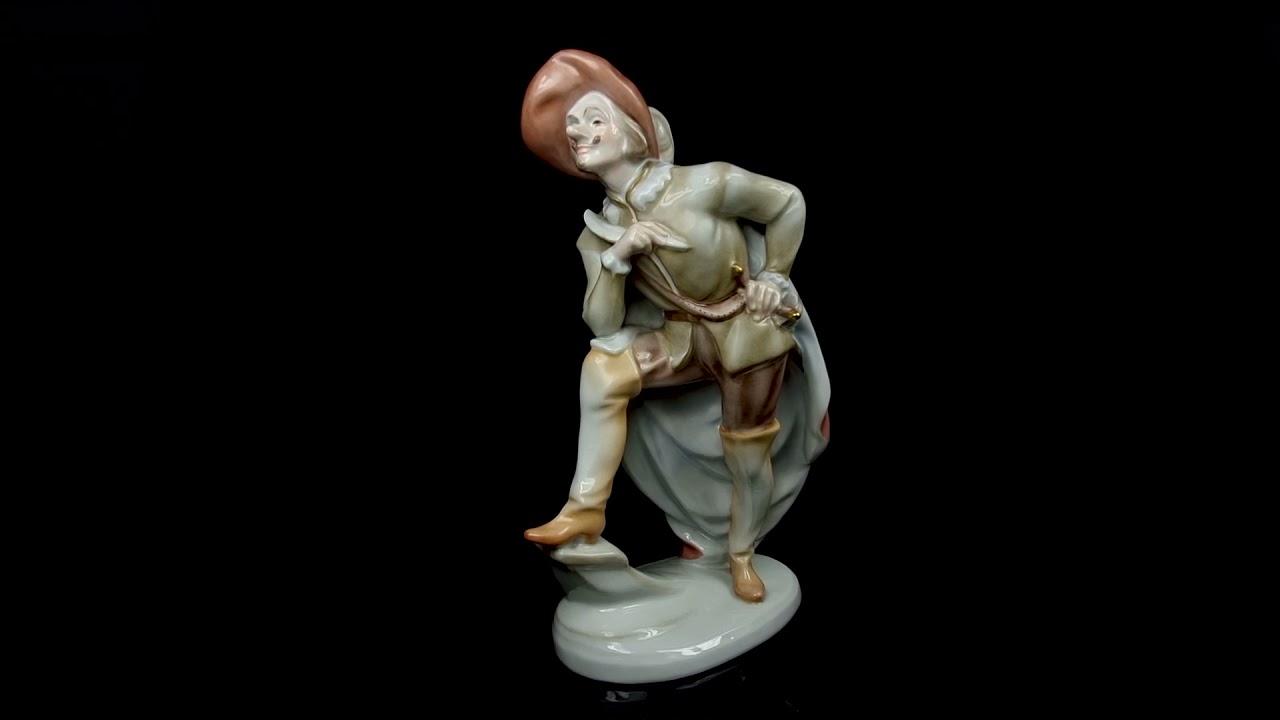 Download Herendi porcelán Cyrano de Bergerac figura - Herend porcelain figure of Cyrano de Bergerac