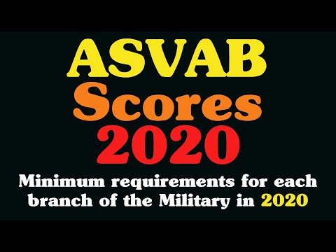 ASVAB Scores - Minimum Requirements For Each Branch Of The Military
