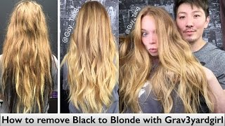 One of Guy Tang's most viewed videos: How to remove Black to Blonde with Grav3yardgirl