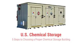 5 Steps to Choosing a Chemical Storage Building