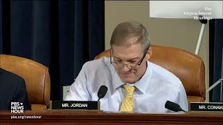 WATCH: Rep. Jordan's full questioning of Bill Taylor | Trump impeachment hearings
