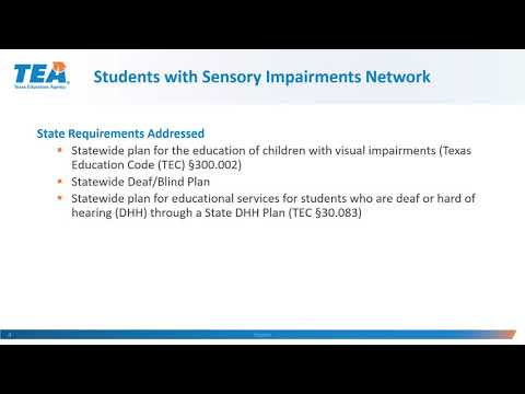 Network 7: Students With Sensory Impairments