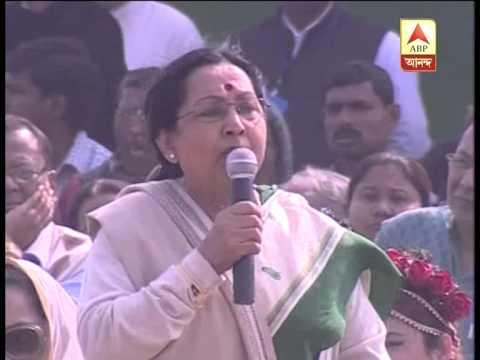 Sandhya Roy praises Mamata at Brigade rally