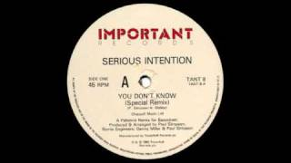 Serious Intention - You Don